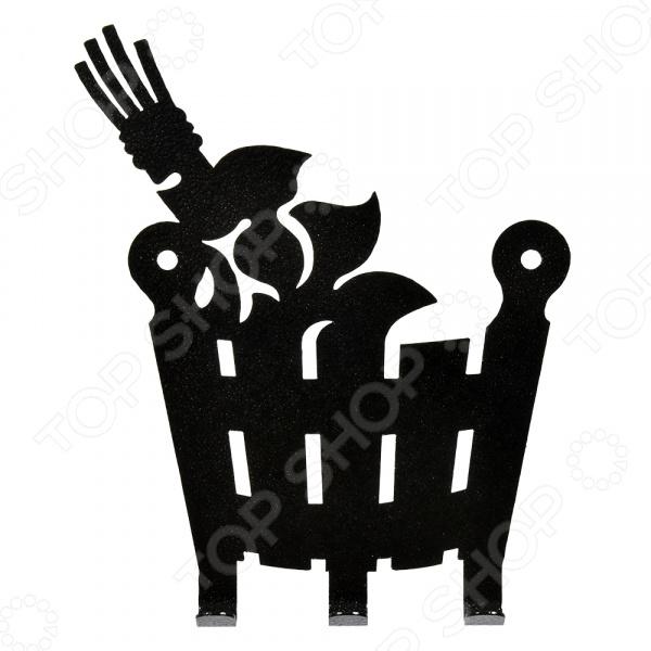 Вешалка Банные штучки «Веник и ушат» 32493