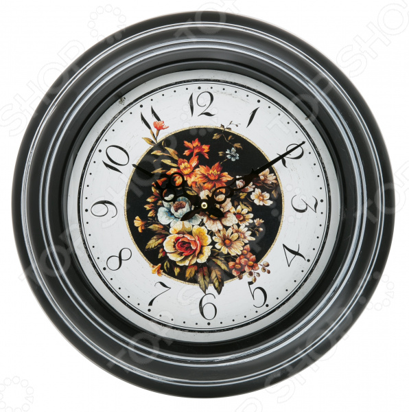 Часы настенные Mitya Veselkov «Цветы на черном» mitya veselkov часы настенные