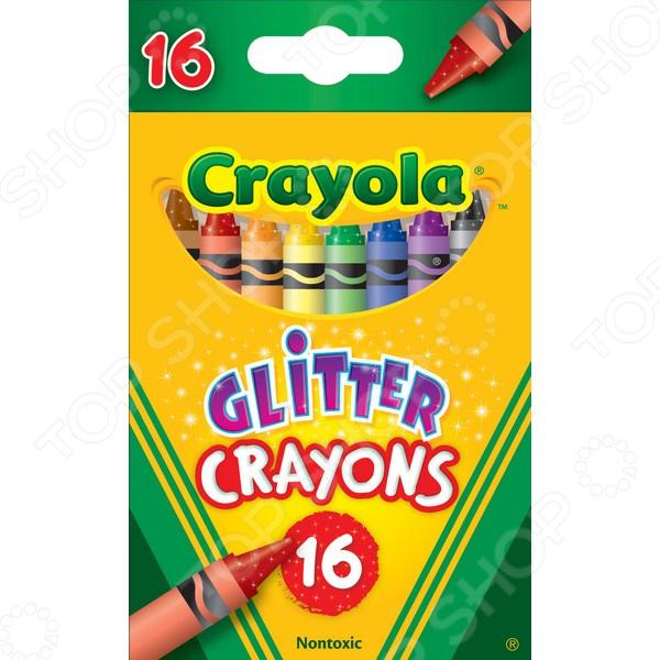 Набор восковых мелков Crayola с блестками