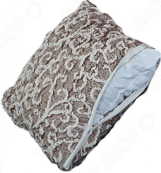 Zakazat.ru: Натяжной чехол на подушку Еврочехол «Жаккард. Волны»