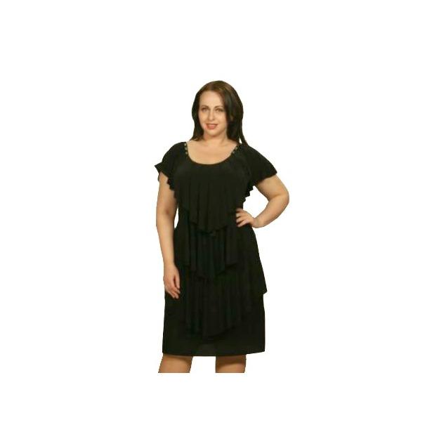 фото Платье Klimini Мальдивы. Цвет: черный. Размер одежды: 52