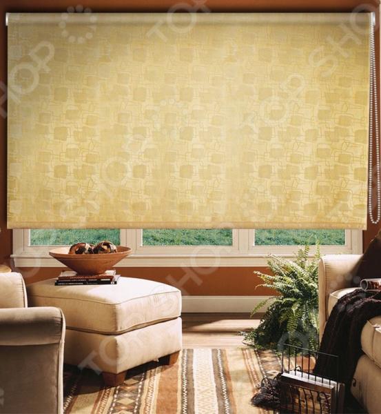 Рулонная штора Эскар «Эдем». Цвет: золотистый