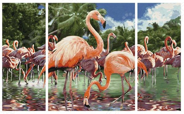 Набор для рисования по номерам Schipper «Триптих. Фламинго» schipper картина триптих по номерам schipper орхидеи 50х80 см
