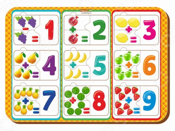 Набор обучающий для ребенка WoodLand «Рамка-вкладыш: Примеры 1»
