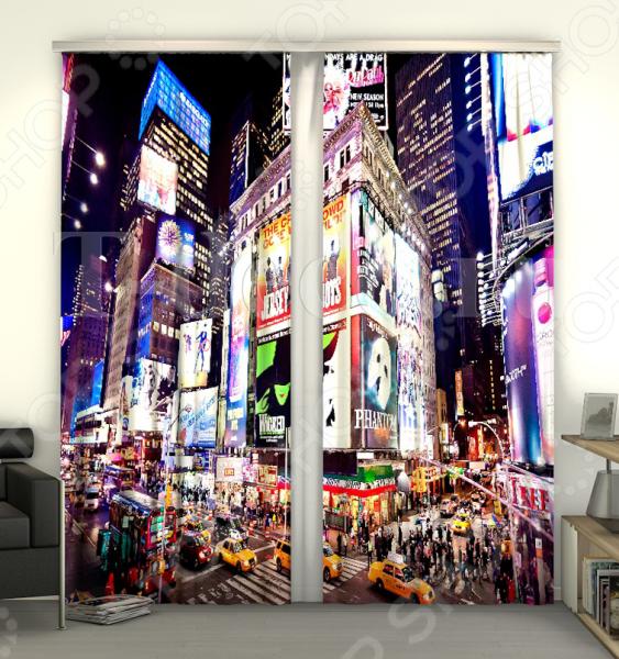 Фотошторы Сирень «Таймс-сквер NY»