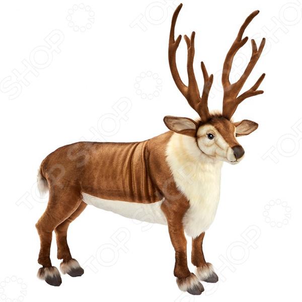 Мягкая игрушка Hansa «Северный олень стоящий» зверь световой неон найт 45 см северный олень ленточкой 513 269