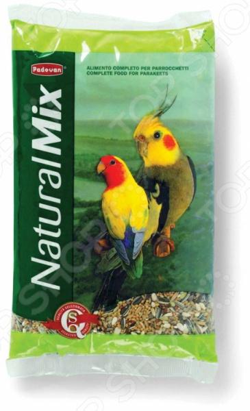 Корм для попугаев средних размеров Padovan Naturalmix Parrocchetti корм для птиц vitakraft menu vital для волнистых попугаев основной 1кг
