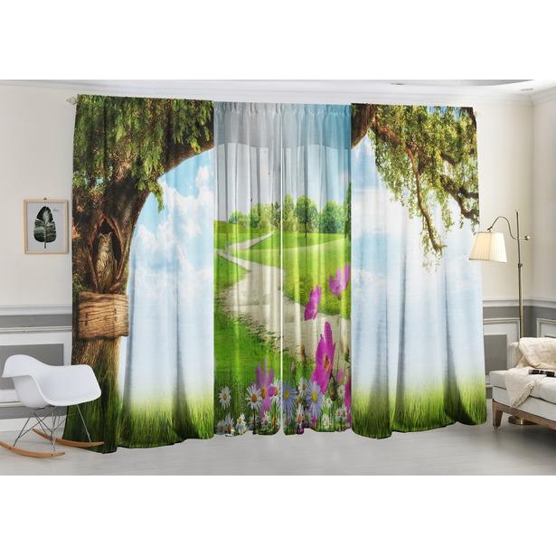 Фотокомплект: тюль и шторы ТамиТекс «Пикник под деревом»