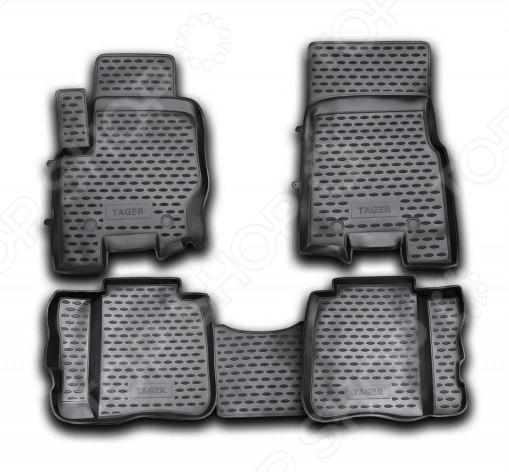 Комплект ковриков в салон автомобиля Novline-Autofamily ТагАЗ Tager 2008 защита тагаз tager 2008 all картера сталь 2мм standart plus