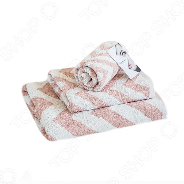 Полотенце махровое Василиса Memories. Цвет: серебристый, розовый