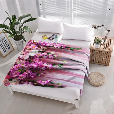 Купить Плед флисовый ТамиТекс «Ламбрекен из цветов»