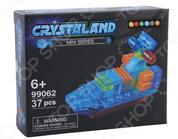 Конструктор-игрушка N-BRIX Crystaland «Патрульный катер» конструктор crystaland shg006 истребитель 4 в 1 67 дет