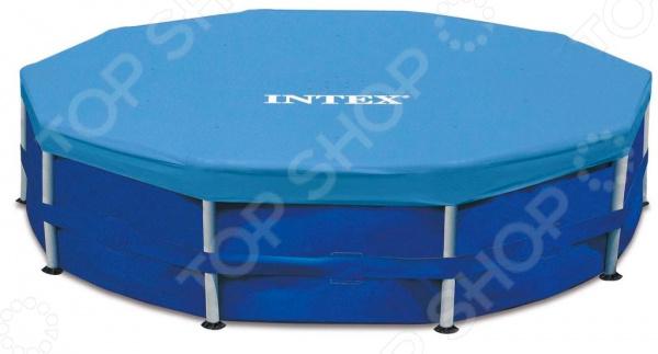 Тент для бассейна Intex круглый тент intex 28040 для каркасного бассейна ultra frame 488см выступ 20см