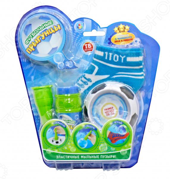 Мыльные пузыри с аксессуарами 1 Toy «Футбольные Прыгунцы» 1toy мыльные пузыри футбольные прыгунцы 80 мл т59276