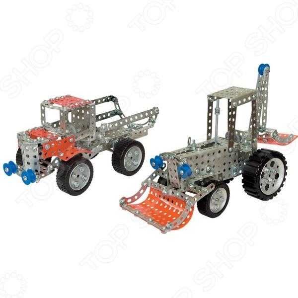 Конструктор металлический Десятое королевство «Грузовик и трактор» металлический конструктор грузовик и трактор