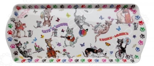 Поднос сервировочный Gift'n'home «Веселые кошки» Gift'n'home - артикул: 1754278