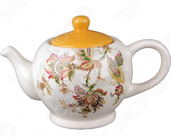 Чайник фарфоровый Коралл «Марокканский цветок»