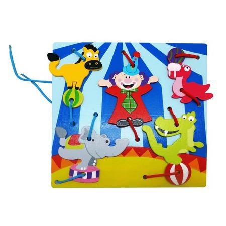 Купить Игра развивающая для малыша Mapacha «Шнуровка. Клоуны»