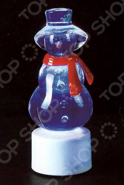 Фигура светодиодная на подставке Neon-Night «Снеговик с шарфом» фигура акриловая светодиодная neon night снеговик с шарфом 40 led с понижающим трансформатором 30 см
