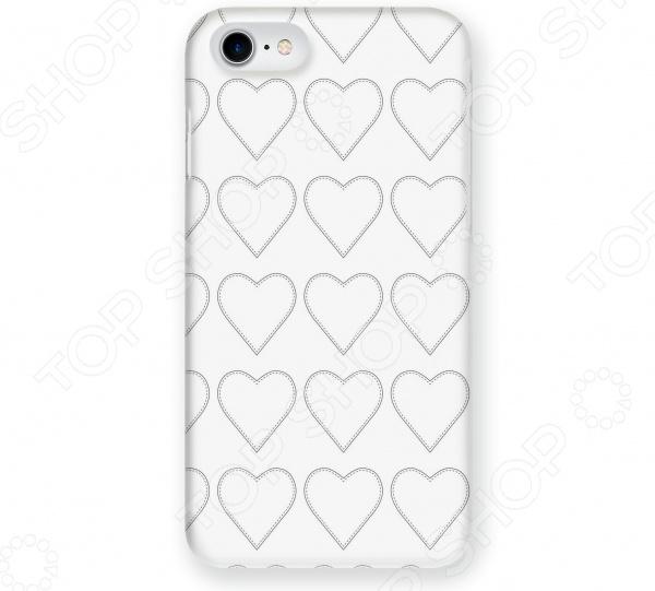 Чехол для iPhone 7 Mitya Veselkov «Сердца-нашивки» чехол для iphone 7 plus mitya veselkov сердца растения