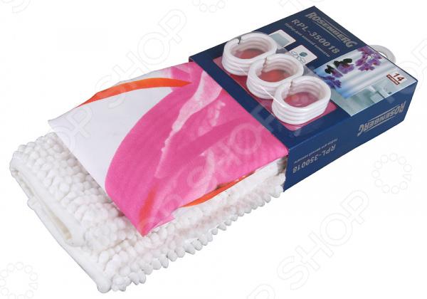 Набор: штора и коврик для ванной комнаты Rosenberg RPL-350018