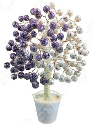 Набор для детского творчества Азбука тойс «Дерево из бусин: Снежная черника»