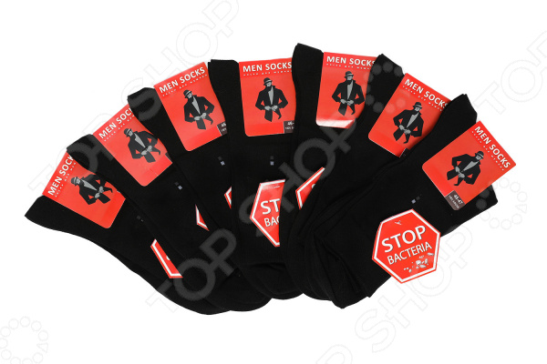 Комплект мужских носков MEN SOCKS «Неделька»: 7 шт. Цвет: черный