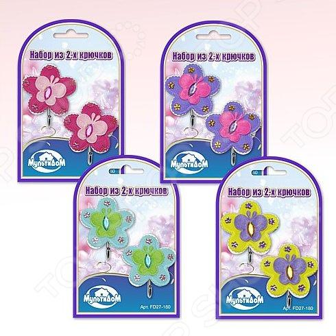 Набор крючков Мультидом «Цветы с бабочкой» FD27-180. В ассортименте скалка фигурная мультидом цветы da80 271