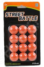 Мягкие шарики для игрового оружия 1 Toy Street Battle Т13649 bondibon пульки мягкие для оружия 8 мм разноцветный