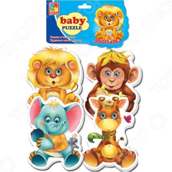 Пазл фигурный детский Vladi Toys «Зоопарк»