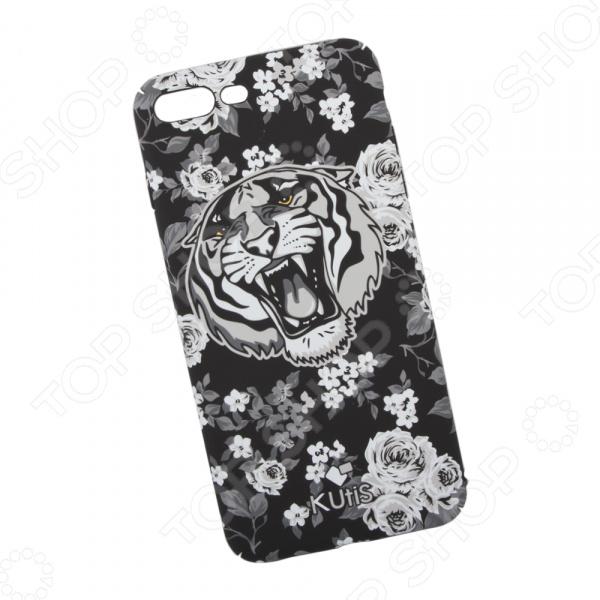 лучшая цена Чехол для iPhone 7 Plus/8 Plus KUtiS Monochrome AK-1 «Тигр»