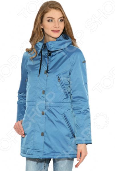 цена  Куртка Finn Flare B17-12007. Цвет: серо-голубой  онлайн в 2017 году
