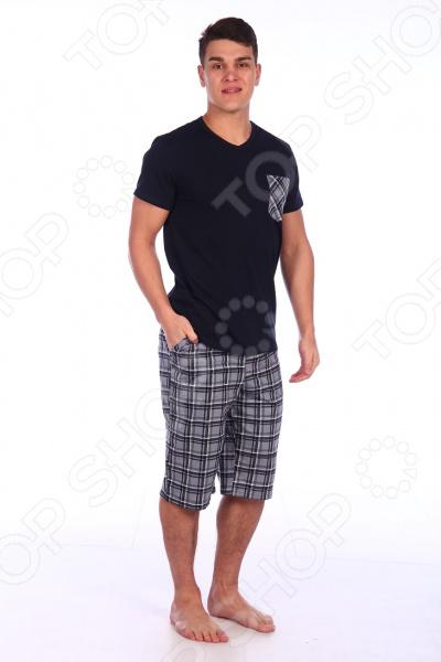 Комплект домашний мужской Селтекс КК319. Цвет: темно-синий