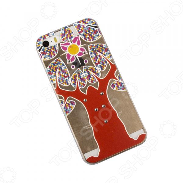 Чехол для iPhone 5/5S/SE «Красное дерево»