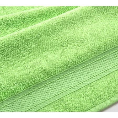 Купить Полотенце махровое Uztex с бордюром. Цвет: салатовый