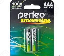 Набор батареек аккумуляторных Perfeo AAA1000mAh/2BL