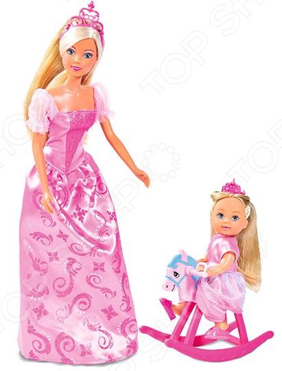 Набор кукол Simba «Штеффи и Еви. Принцессы» simba набор кукол штеффи и еви мир животных