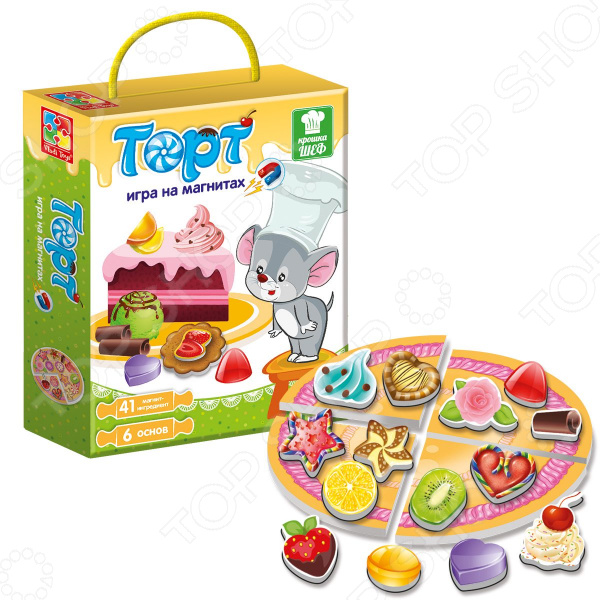 Игра магнитная Vladi Toys «Крошка Шеф. Торт» egmont toys магнитная игра пиратский корабль egmont toys