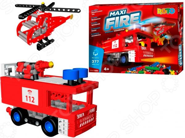 Конструктор игровой ROTO Maxi FIRE. Количество элементов: 377 шт Конструктор игровой ROTO Maxi FIRE. Количество элементов: 377 шт /