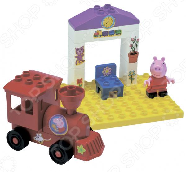 Конструктор детский BIG «Поезд с остановкой» конструкторы big peppa pig поезд с остановкой 15 деталей