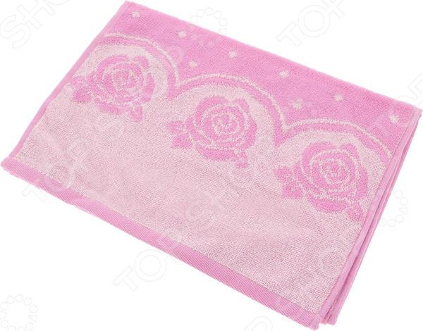 цена Полотенце махровое Aquarelle «Розы вид 3». Цвет: нежно-розовый, орхидея онлайн в 2017 году