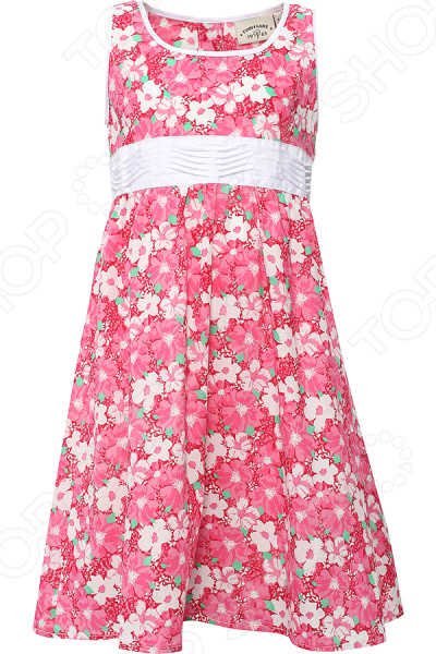 Платье для девочки Finn Flare KS16-71009. Цвет: розовый