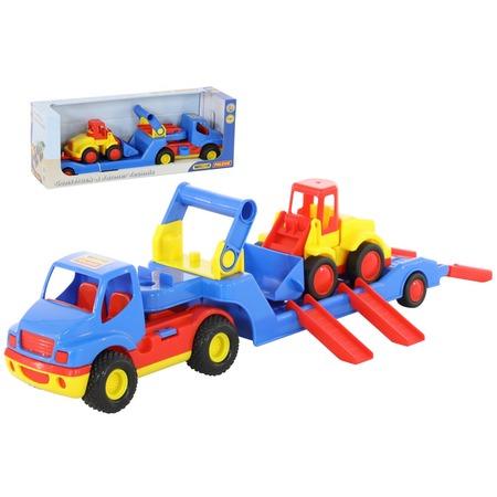 Купить Набор машинок игрушечных Wader «КонсТрак. Трейлер и Базик погрузчик»