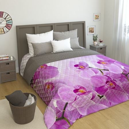 Купить Фотопокрывало стеганое Сирень «Сиреневая орхидея»