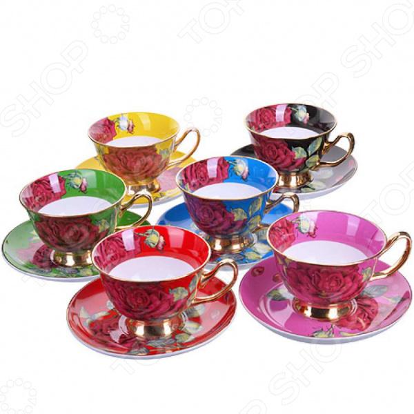 Чайный набор премиум «Цветочное счастье» на 6 персон