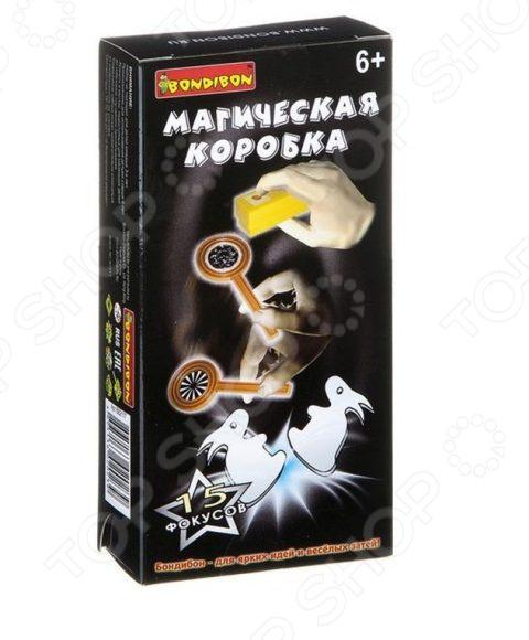 Игра настольная развивающая для детей Bondibon «Фокусы. Магическая коробка №2» цена