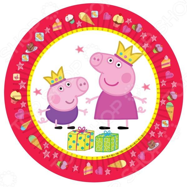 Тарелки одноразовые Peppa Pig «Пеппа-принцесса»