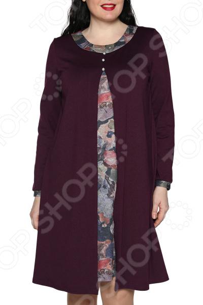 Платье ТРЕНД «Вдохновение». Цвет: фиолетовый платье тренд стильный силуэт цвет бордовый