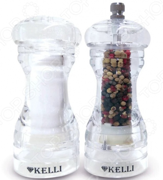 Набор:мельница для перца и солонка Kelli KL-11101 blue sky набор соль перец принц фрогги
