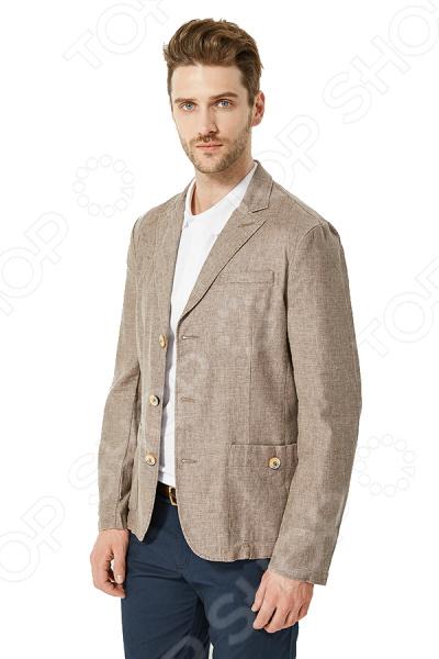 Пиджак Finn Flare S16-21004. Цвет: светло-коричневый